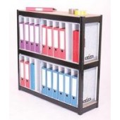 FF Storsol 3 Shelf Larch File Unit Blk