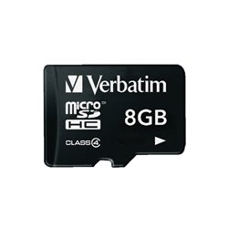 MicroSDHC Memory Card Class 4 8GB