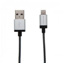 Verbatim Lightning Cable Slvr 30cm 48854