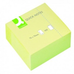 Q-Connect Yellow 76x76mm Quick Note Cube