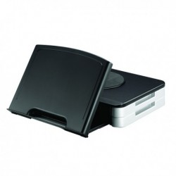Q-Connect Black Monitor Stand/Copyholder