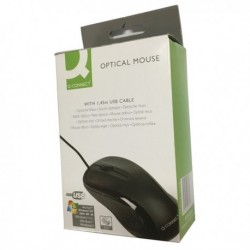 Q-Connect Black Scroll Wheel Mouse