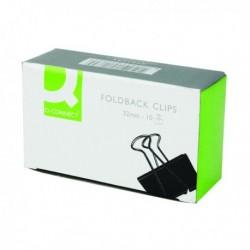Q-Connect 32mm Black Foldback Clip Pk10