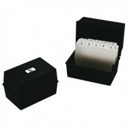 Q-Connect Card Index Box 127x76mm Black