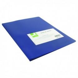Q-Connect Display Book 20 Pocket Blue