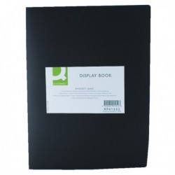 Q-Connect Display Book 20 Pocket Black