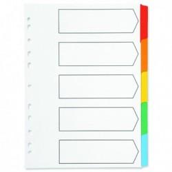 Q-Connect 5-Pt Index Multi Tab Wht A4