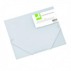 Q-Connect Elasticated Folder A4 Clear
