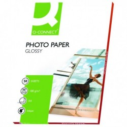 Q-Connect A4 Gloss Photo Paper 180g Pk50