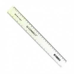 Q-Connect Acrylic Ruler 30cm Clear Pk10