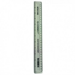 Q-Connect Shatterprf Ruler 30cm Wht Pk10