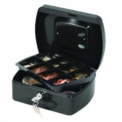 Q-Connect 8in Black Cash Box