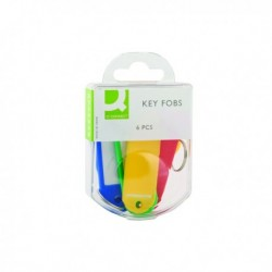 Q-Connect Key Fobs Assorted Pk6