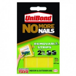 UniBond No More Nails Rmvble Strip Pk10