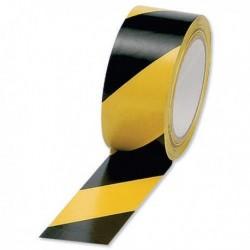 Vinyl Ylw/Blk 50mmx33m Hazard Tape Pk6