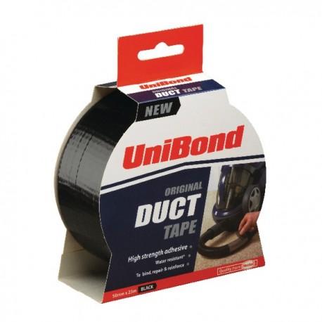 UniBond 50mmx25m Black Duct Tape