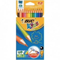 Bic Kids Colouring Pencil - Wallet of 12