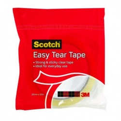 3M Scotch Easy Tear Clear Tape Roll