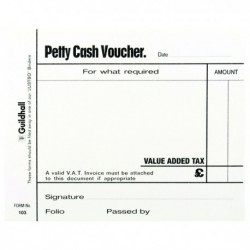 Guildhall Petty Cash Pad 100Lf Pk5