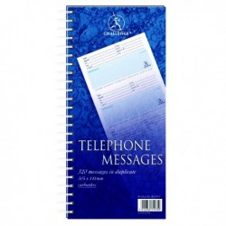 Challenge 320 Wire Telephone Message Pad