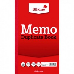 Silvine Dupl Book Memo Ruled 601 Pk6