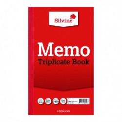 Silvine Triplicate Memo Book 605 Pk6