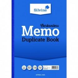 Silvine Duplicate Memo Book A4 Pk3