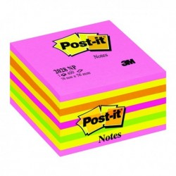 Post-it Neon Note Cube 76x76mm 2028NP