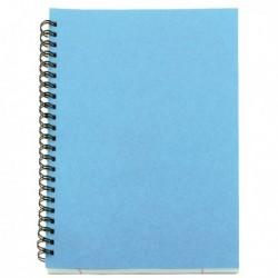 A5 Spiral Pad 80 Leaf Blue Pk12