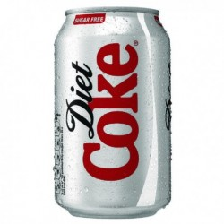 Diet Coca-Cola Soft Drink 330ml Can Pk24