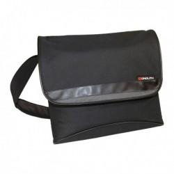 Monolith Nylon Laptop Messenger Bag Blk