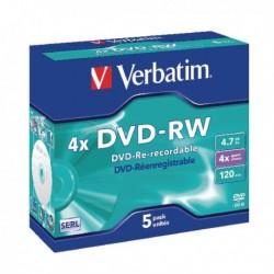 Verbatim DVD-RW 4X 4.7GB Pk5 43285