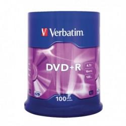 Verbatim DVD+R 16X Non-Print Pk100 43551