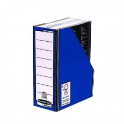 Fellowes Prem Blu/Wht Magazine File Pk10