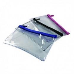 Helix Clear Pencil Case 200X125mm Asstd
