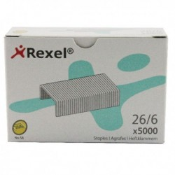 Rexel Choices No56/6mm Mtl Staples P5000