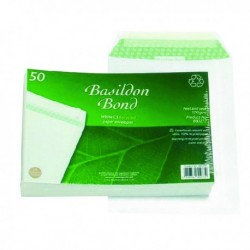 Basildon C5 Envelope Peel Seal Wht Pk50