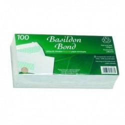 Basildon DL Wndw Env Peel Seal Wht Pk100