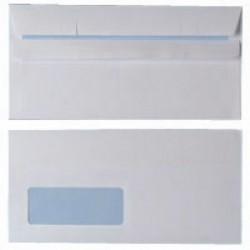 White DL Window Envelopes 90gsm S/Seal