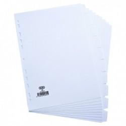Elba 10-Part Divider 160gsm A4 White