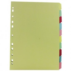 A4 Manilla 10-Part Multi-Colour Divider