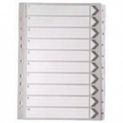 White A4 1-10 Mylar Index Dividers