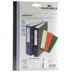 Durable Ordofix Green Spine Label Pk10
