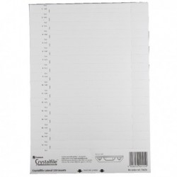 Rexel Crystalfile Card Inserts Wht P34