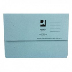 Blue Document Wallet 220gsm