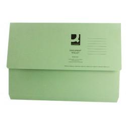 White Box Green Document Wallet Pk50