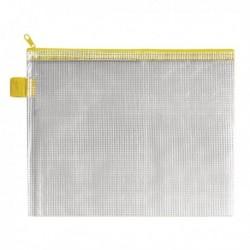 BDS Mesh Zip Bag 255x205mm Yellow Pk5