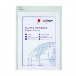 Snopake Polyfile Wallet A4 Clear Pk5
