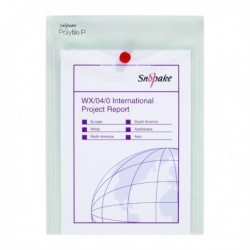 Snopake Polyfile Wallet A5 Clear Pk5