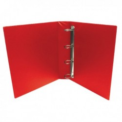 Red 25mm Pres 4D-Ring Binder Pk10